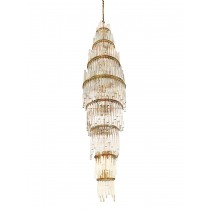 Austrian Crystal and Brass Chandelier by Christoph Palme