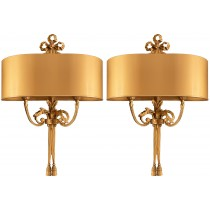 Pair of Gilt Bronze Sconces by Maison Charles