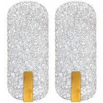 Pair of Venini Textured Glass Sconces