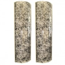 Pair of Large De Majo Glass Wall Sconces