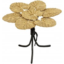 Pair of French Water Lily Leaf Bronze Tables