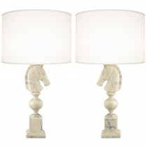 Pair of 1960s Italian Alabaster Lamps