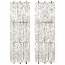 Pair of Venini Glass Sconces