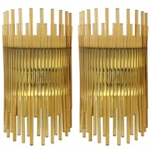 Pair of Vistosi Amber Glass Sconces