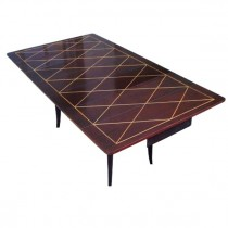 Tommi Parzinger Drop-Leaf Extension, Mahogany Dining Table