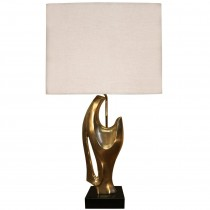 Philippe Jean Abstract Sculptural Bronze Lamp