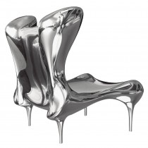 Riemann Chair in Mirror Polished Stainless Steel