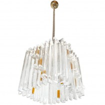 Sculptural Glass Hanging Fixture by Poliarte