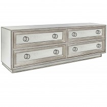 Four Drawer Mirror and Silver Leaf Dresser