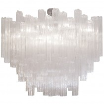 Venini Large Clear Glass Chandelier