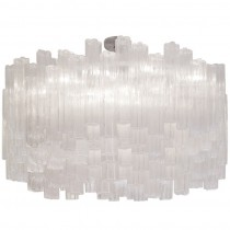 Venini Large Tubular Clear Glass Chandelier