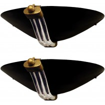 Pair of Murano Black and Clear Glass Sconces