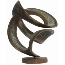 Abstract Bronze Sculpture by Amedeo Fiorese