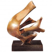 Fred Brouard Abstract Gilded Bronze Sculpture
