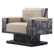 Paul Evans Studio Sculpted Bronze Armchair
