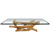 Signed Fred Brouard Abstract Gilt Bronze Coffee Table Base