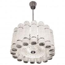 Kalmar Cut Glass & Polished Nickel Chandelier
