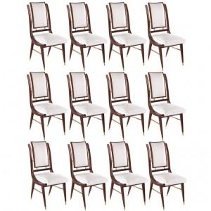 Set of twelve Italian Modern Dining Chairs