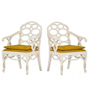Pair of Loop Chairs by Francis Elkins
