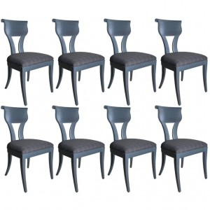 Set of Eight Austrian Grey Chairs