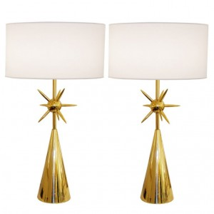 Pair of Modernist Brass Sputnik Lamps