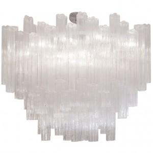 Venini Large Clear Glass Chandelier