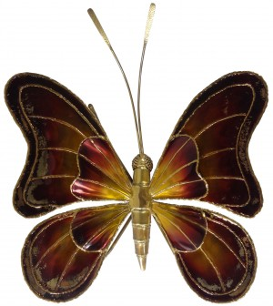 Large Belgian Brass Butterfly Sconce
