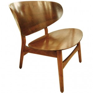 Hans Wegner Shell Chair with Original Label