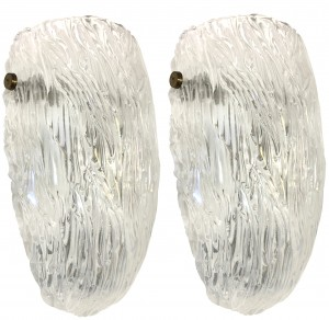 Pair of Textured Glass Sconces by Barovier (Three Sconces Available)