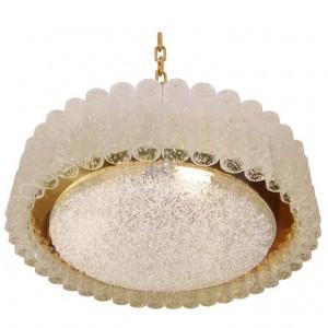 De Majo Glass & Brass Chandelier