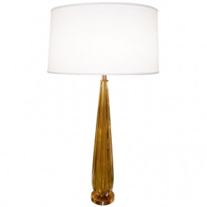 Seguso Smoky Amber Fluted Glass Lamp