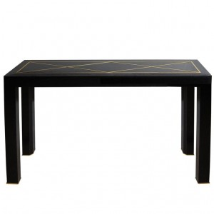 Black Cobra Skin Console Table by Michael Laut
