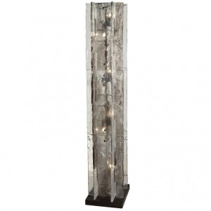 Rare Interlocking Glass Floor Lamp by Carlo Nason for Mazzega