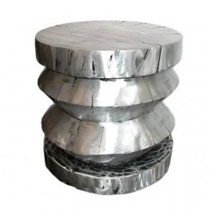 Cast Aluminium Stool or End Table