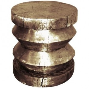 Cast Bronze Stool or Table Designed by Craig Van Den Brulle