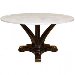 Delfine Macassar Ebony Table with Rock Crystal Top