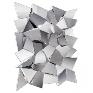 Delaunay Chrome Mirror / Wall Sculpture by Craig Van Den Brulle