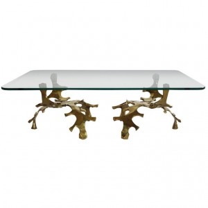 Signed Willy Daro Sculptural Bronze Coffee Table