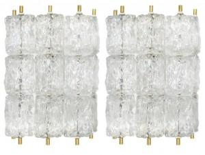 Pair of Venini Glass Sconces